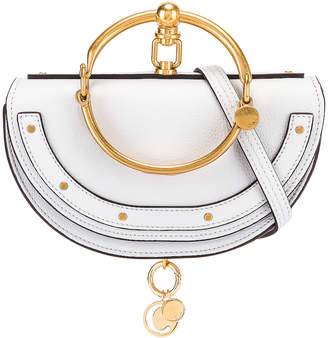 Chloé Small Nile Leather Minaudiere in Light Cloud | FWRD