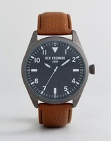 Ben Sherman Wb074br Watch In Brown Leather