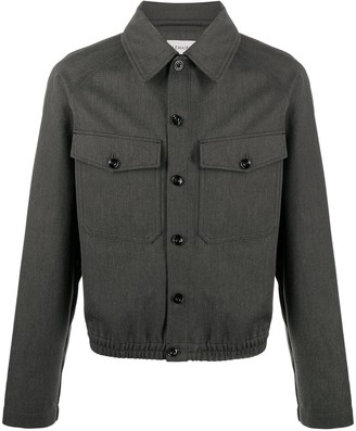 Lemaire Pointed Collar Shirt Jacket