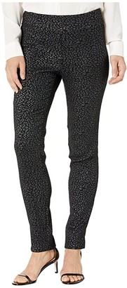 Krazy Larry Lurex Cheetah Print Pull-On Pants (Silver) Women's Casual Pants