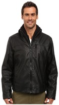 Calvin Klein Faux Leather Hoodie Jacket Men's Sweatshirt