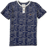 Lucky Brand Big Boys 8-20 Rip Curl Henley Striped Short-Sleeve Tee