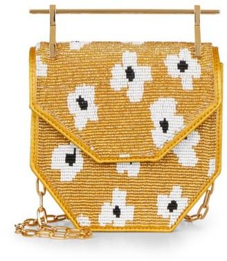 M2Malletier x Pura Utz Mini Amor Fati Floral Beaded Top Handle Bag