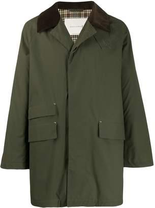 MACKINTOSH FALKIRK Dark Olive Waxed Cotton Field Coat   GM-1021F