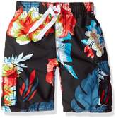 Kanu Surf Little Boys' Papagayo Floral Swim Trunk