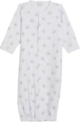 Kissy Kissy Kid's Swinging Sloth's Printed Convertible Sleep Gown, Size Newborn-S