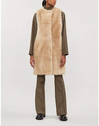 Stella McCartney Teddy sleeveless faux-fur coat