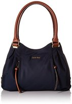 Calvin Klein Nylon Shopper Satchel Bag