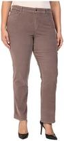 NYDJ Plus Size Plus Size Marilyn Straight Jeans in Corduroy in Alder