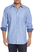 Bugatchi Classic Fit Striped Sport Shirt