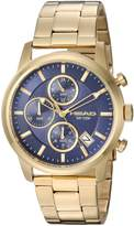 Head Men's 'Match Point' Quartz Stainless Steel Casual Watch, Color:Gold-Toned (Model: HE-004-05)