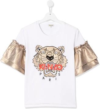 Kenzo TEEN metallic sleeve T-shirt