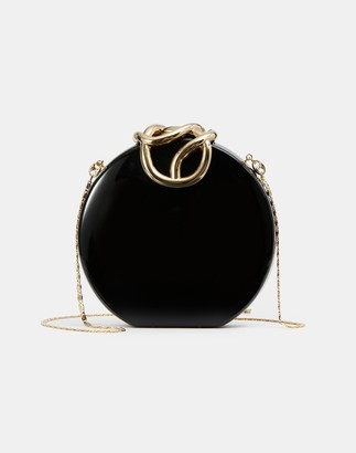 Lafayette 148 New York Italian Infinity Knot Lacquered Clutch