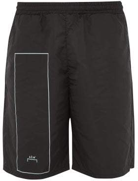 A-Cold-Wall* A Cold Wall* Rectangle Print Shell Shorts - Mens - Black
