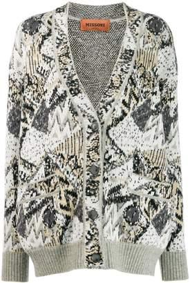 Missoni all-over pattern cardigan