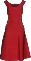 Herve Leger Knee-length dresses