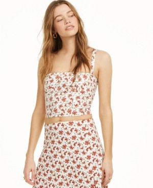 Danielle Bernstein Floral Cropped Tank Top, Created for Macy's