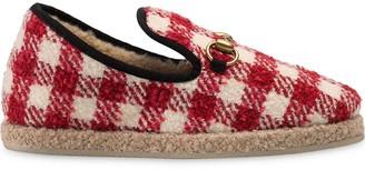 Gucci tweed horsebit loafers
