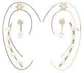 Charlotte Russe Pearl Ear Cuffs & Stud Earrings Set