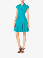 Michael Kors Cap-Sleeve Cotton-Poplin Dress