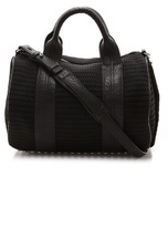 Rocco Mesh Duffel Bag with Rhodium Hardware
