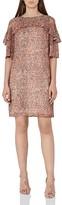 Reiss Roxanne Abstract Print Ruffle Dress