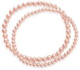 Sterling Forever 14K Rose Gold Plated Beaded Stretch Bracelet Set