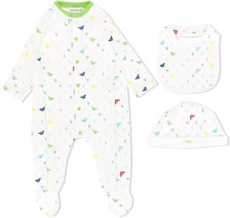Emporio Armani Kids Logo-Print Pajama Set