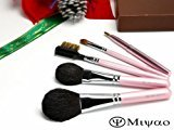 [Japan Gift Award 2015 in Hiroshima Prefecture Award] Kumano makeup brushes pink pearl set of 5 [middle axis type] gift wrapping