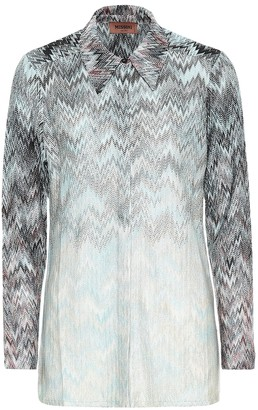 Missoni Metallic knit shirt