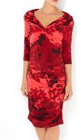 Wallis Red Floral Off Shoulder Dress