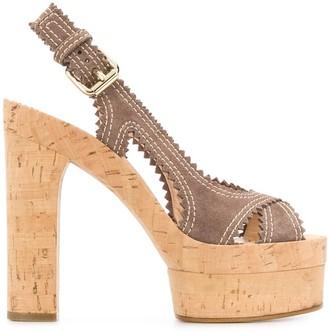 Casadei Renna 145mm open toe sandals