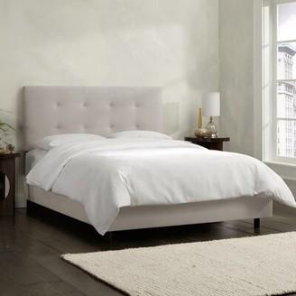 Skyline Furniture Upholstered Standard Bed Size: Twin, Color: Velvet Light Grey