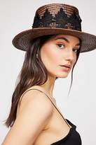 Catalonia Lace Straw Boater Hat