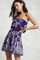 Forever 21 Crystal Dye Flounce Dress