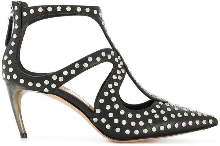 Alexander McQueen studded pointed toe pumps