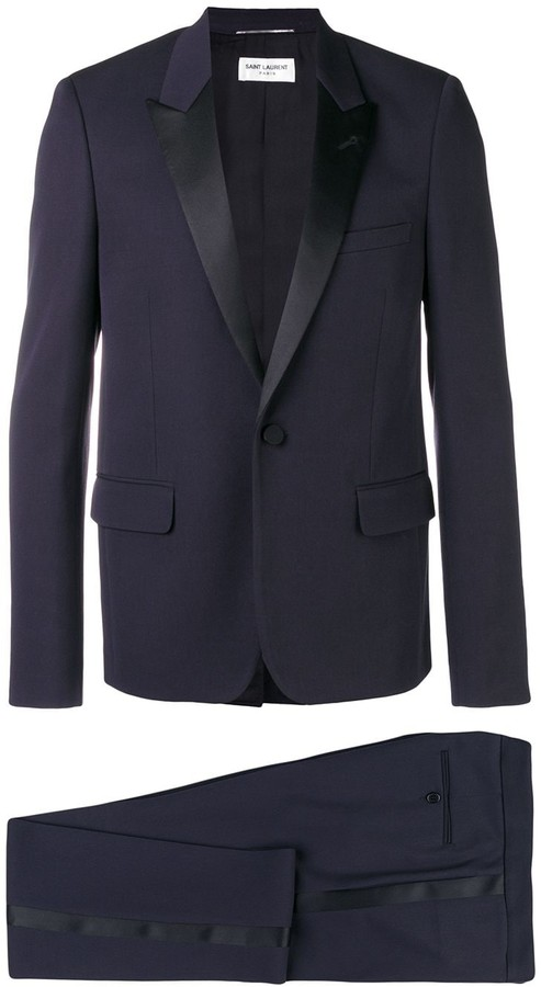 Saint Laurent peaked lapel two piece suit