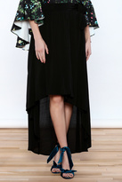 Lucy-Love Lucy Love Black Wrap Skirt