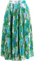 Richard Quinn floral accordion skirt