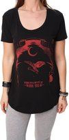 Metal Mulisha Metal Muliha Women' Ravenhortleevecoop Neck T-hirt-mall