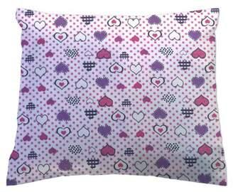 Love Hearts Sheetworld SheetWorld Twin Pillow Case, 100% Cotton Flannel 20 x 26,