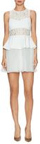 BCBGeneration Lace Peplum Dress