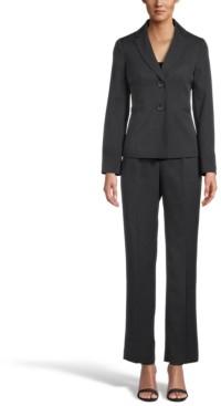 Le Suit Petite Mini Houndstooth Pantsuit