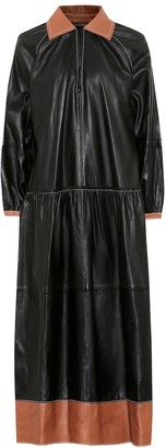 Stand Studio Gilda leather midi dress