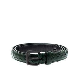 Bottega Veneta Green Leather Belts