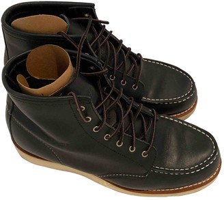 Red Wings Black Leather Ankle boots