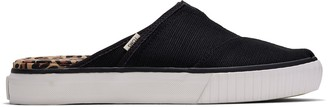 Black Heritage Canvas Women's Indio Mule Slip-Ons Venice Collection