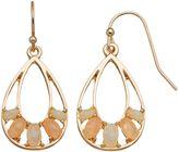 Lauren Conrad Oval Cabochon Nickel Free Teardrop Earrings