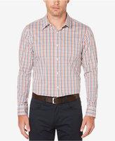 Perry Ellis Men's Tattersall Non-Iron Stretch Cotton Shirt