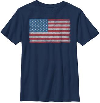 Fifth Sun Boys' Tee Shirts NAVY - Navy American Flag Crewneck Tee - Boys